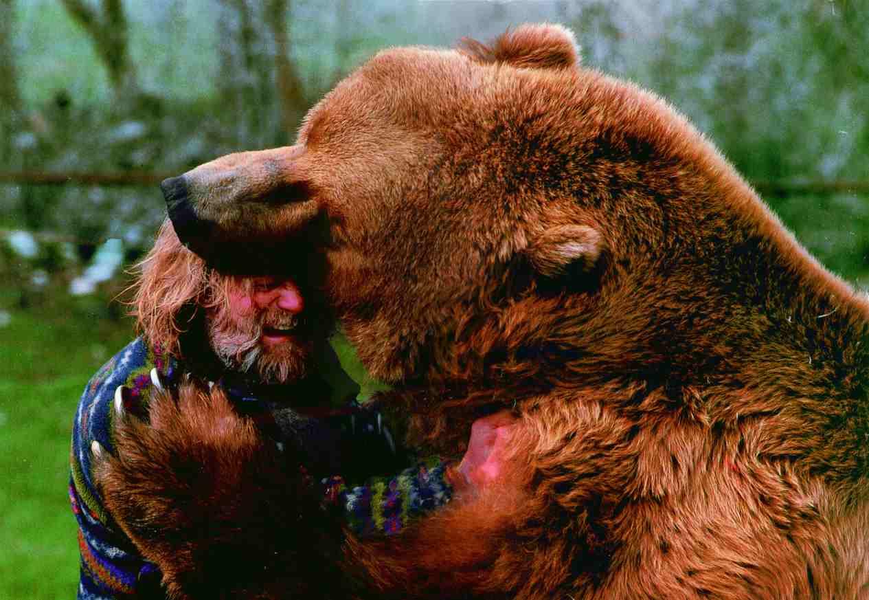 Bear attack human remains